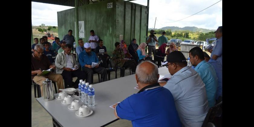 Lawatan Kerja YB Pengerusi Jawatankuasa Kesihatan, Alam Sekitar dan Pertanian Negeri Johor ke Projek Pertanian Daerah Mersing