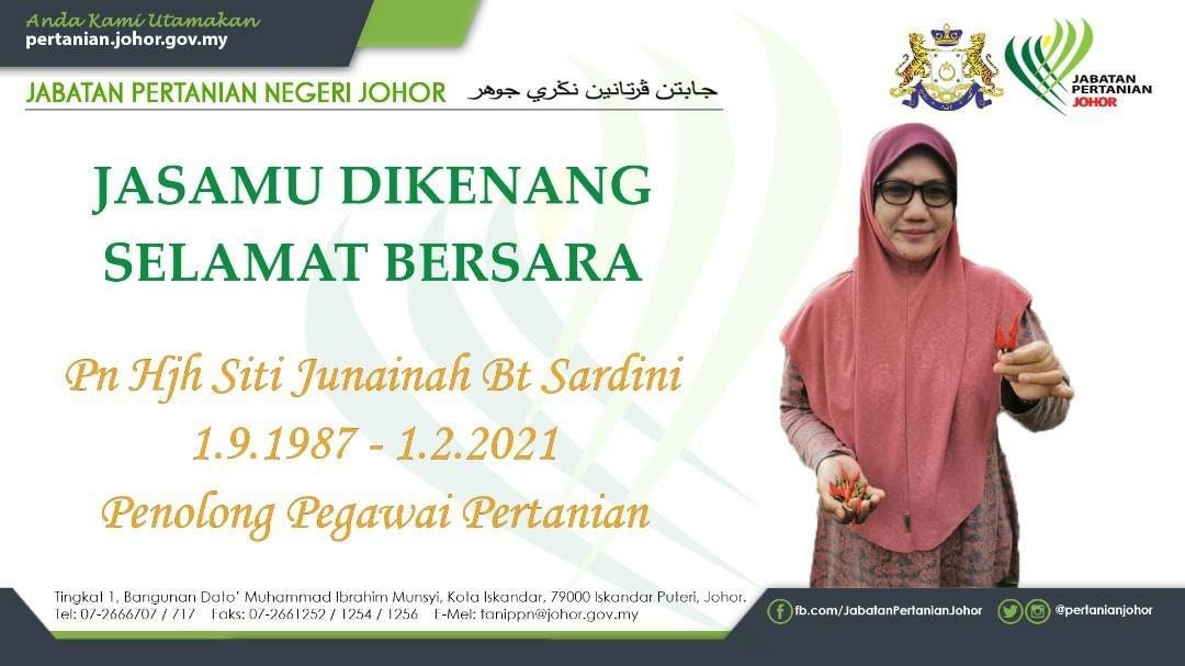 Terima Kasih Pn Hjh Siti Junainah